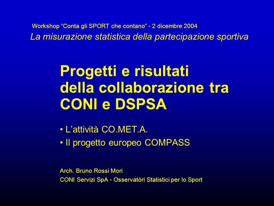 Progetti e risultati della collaborazione tra CONI e DSPSA