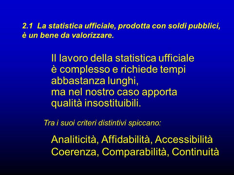 Analiticità, Affidabilità, Accessibilità