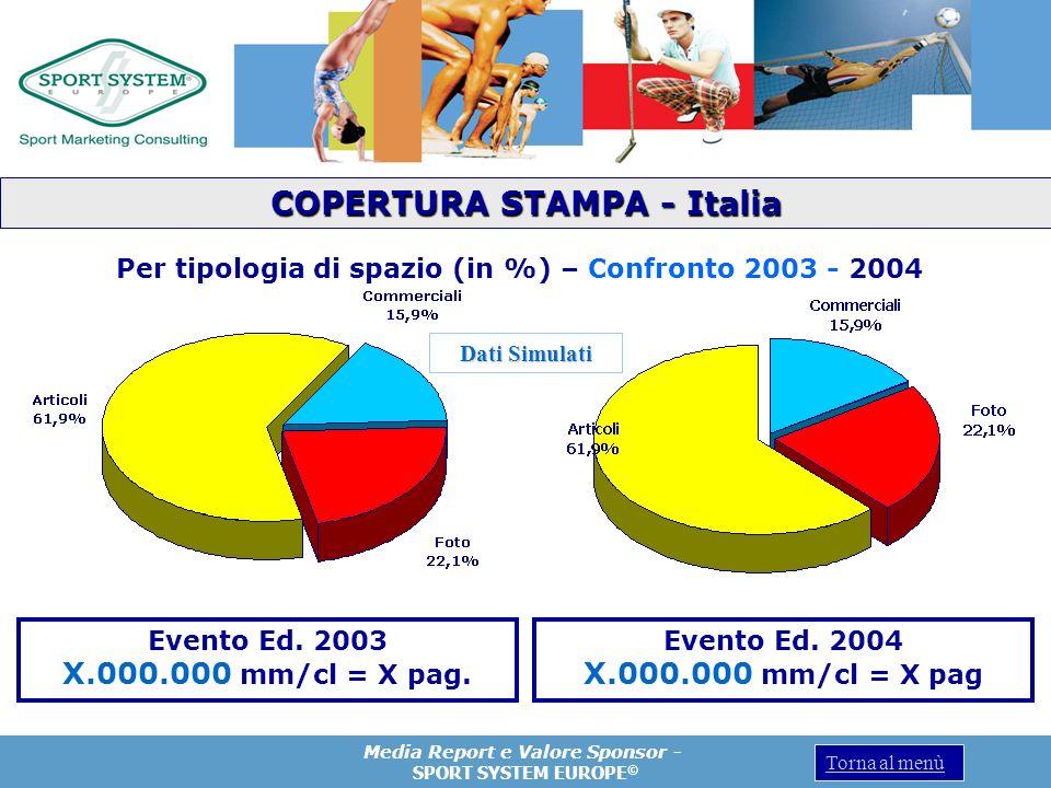 COPERTURA STAMPA - Italia