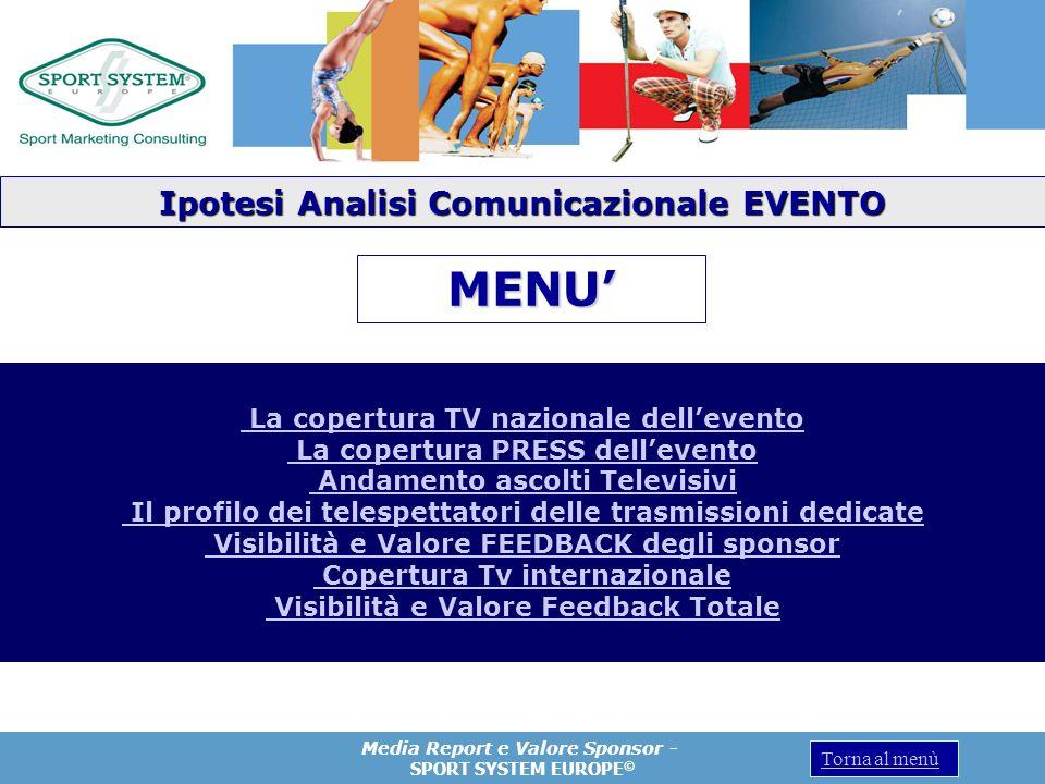 MENU' Ipotesi Analisi Comunicazionale EVENTO