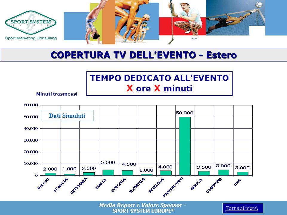 COPERTURA TV DELL'EVENTO - Estero