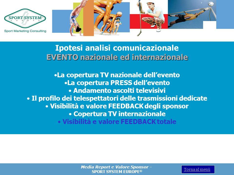 Ipotesi analisi comunicazionale EVENTO nazionale ed internazionale
