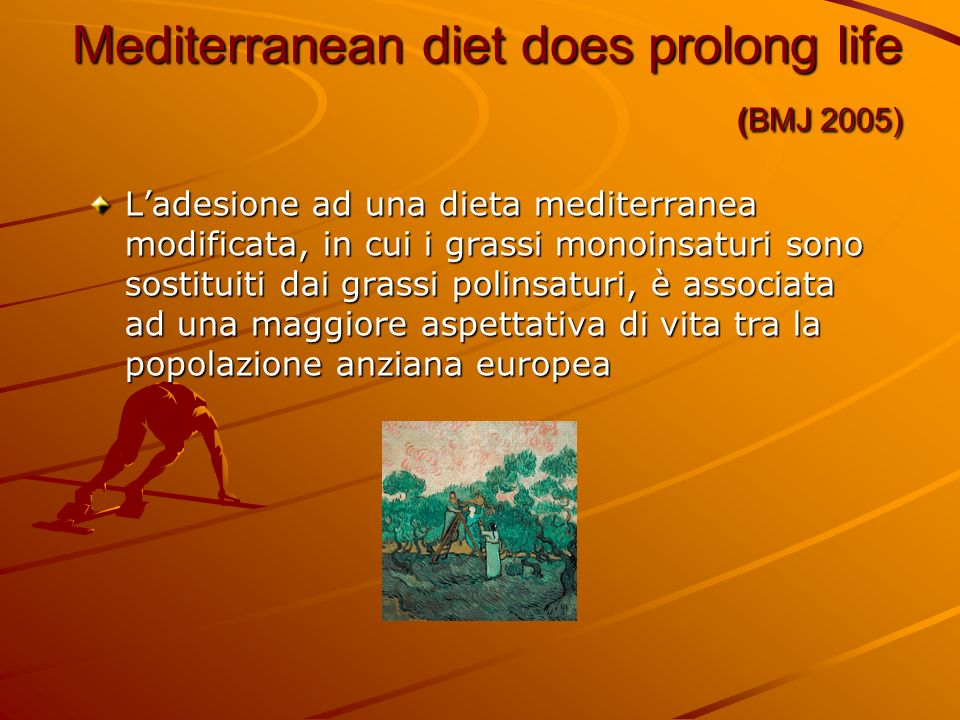 Mediterranean diet does prolong life (BMJ 2005)