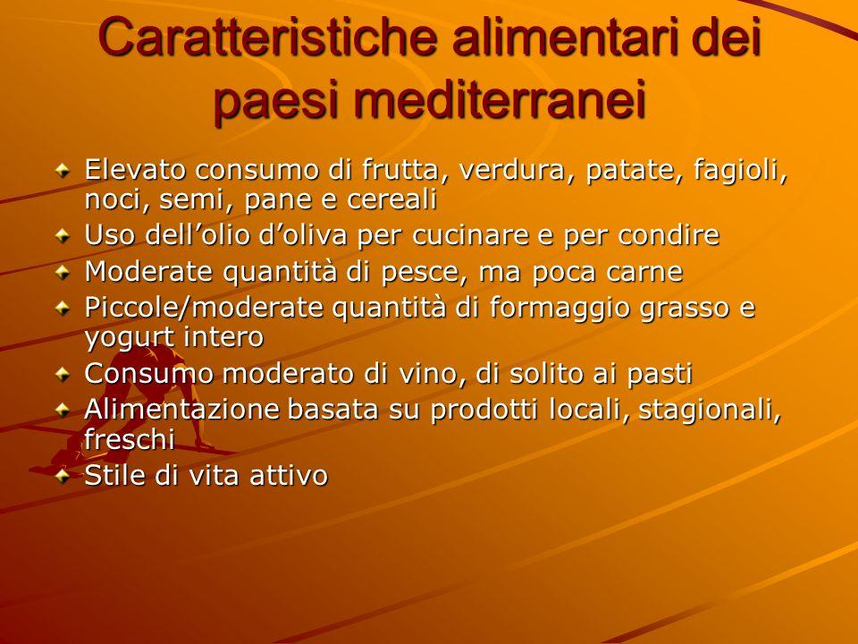 Caratteristiche alimentari dei paesi mediterranei