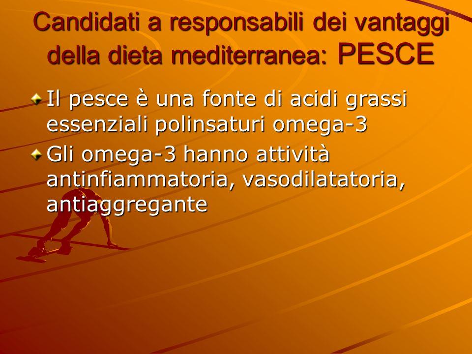 Candidati a responsabili dei vantaggi della dieta mediterranea: PESCE