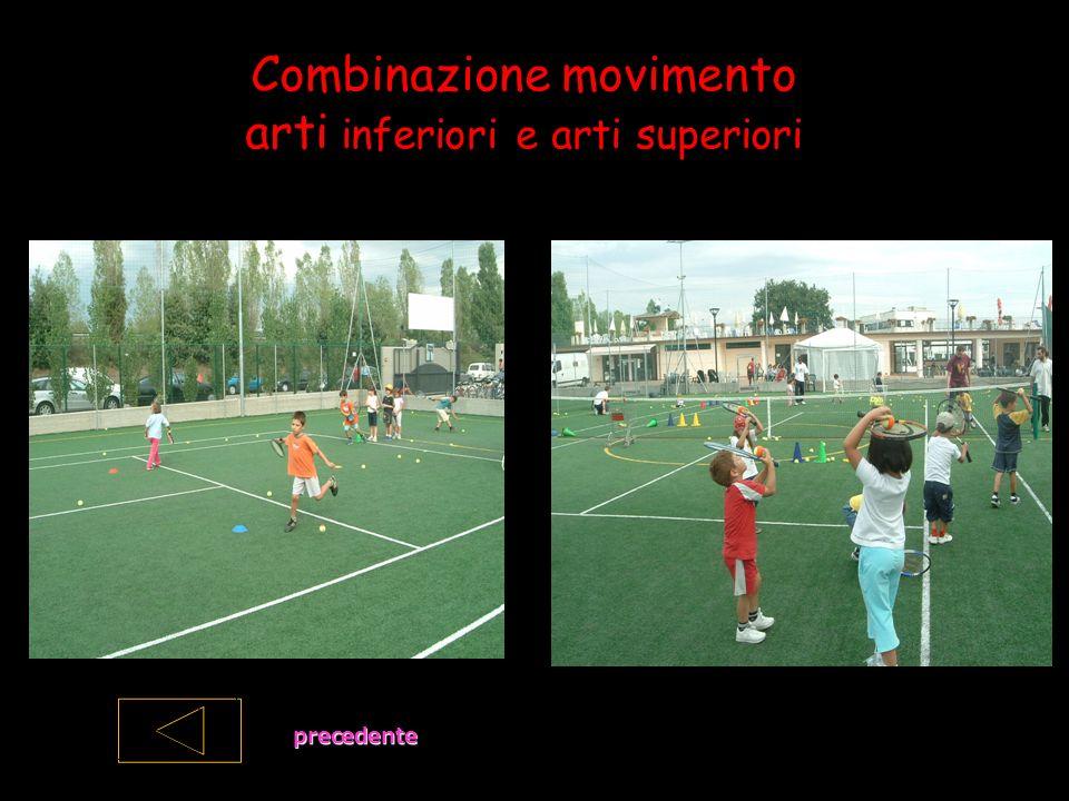 Combinazione movimento arti inferiori e arti superiori