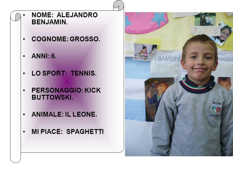 NOME: ALEJANDRO BENJAMIN.