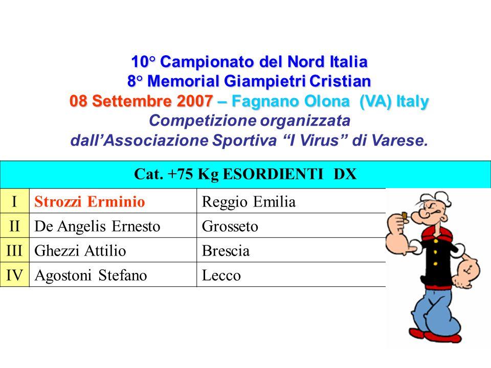 10° Campionato del Nord Italia 8° Memorial Giampietri Cristian