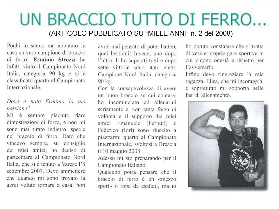 (ARTICOLO PUBBLICATO SU MILLE ANNI n. 2 del 2008)