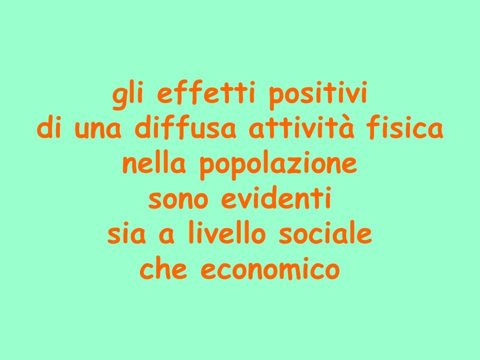 gli effetti positivi di una diffusa attività fisica nella popolazione sono evidenti sia a livello sociale che economico