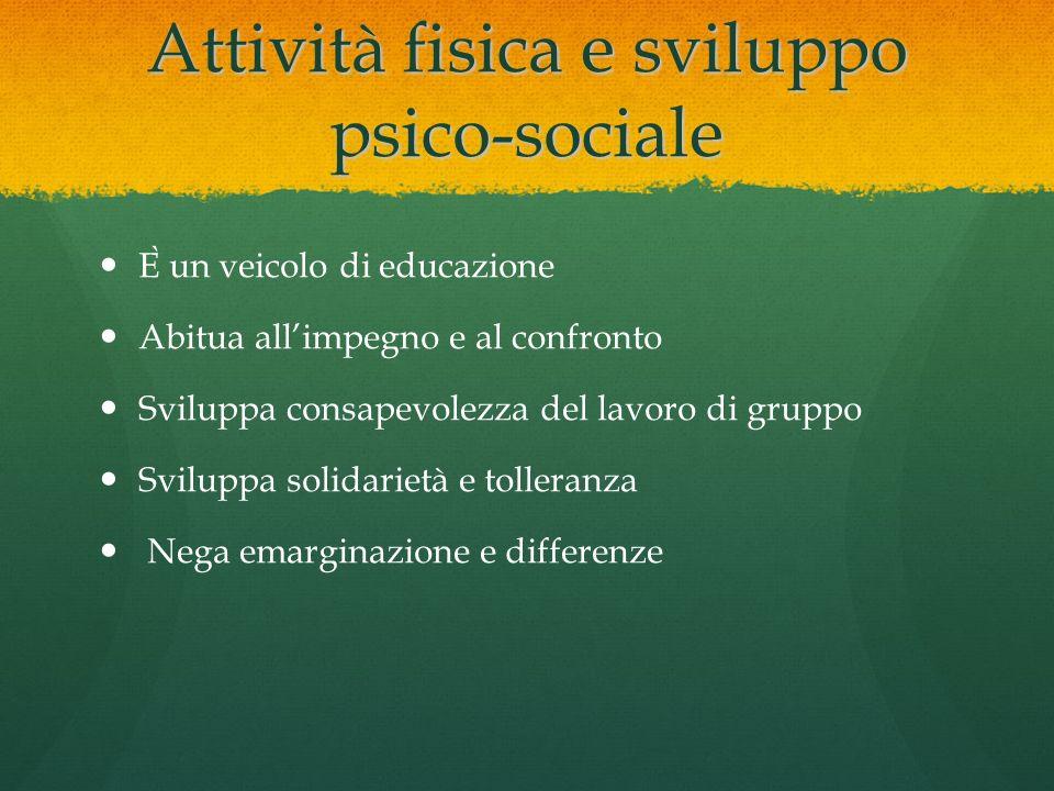 Attività fisica e sviluppo psico-sociale