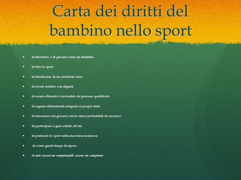 Carta dei diritti del bambino nello sport