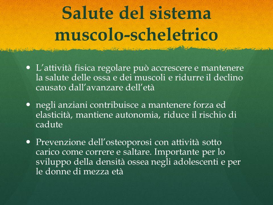 Salute del sistema muscolo-scheletrico