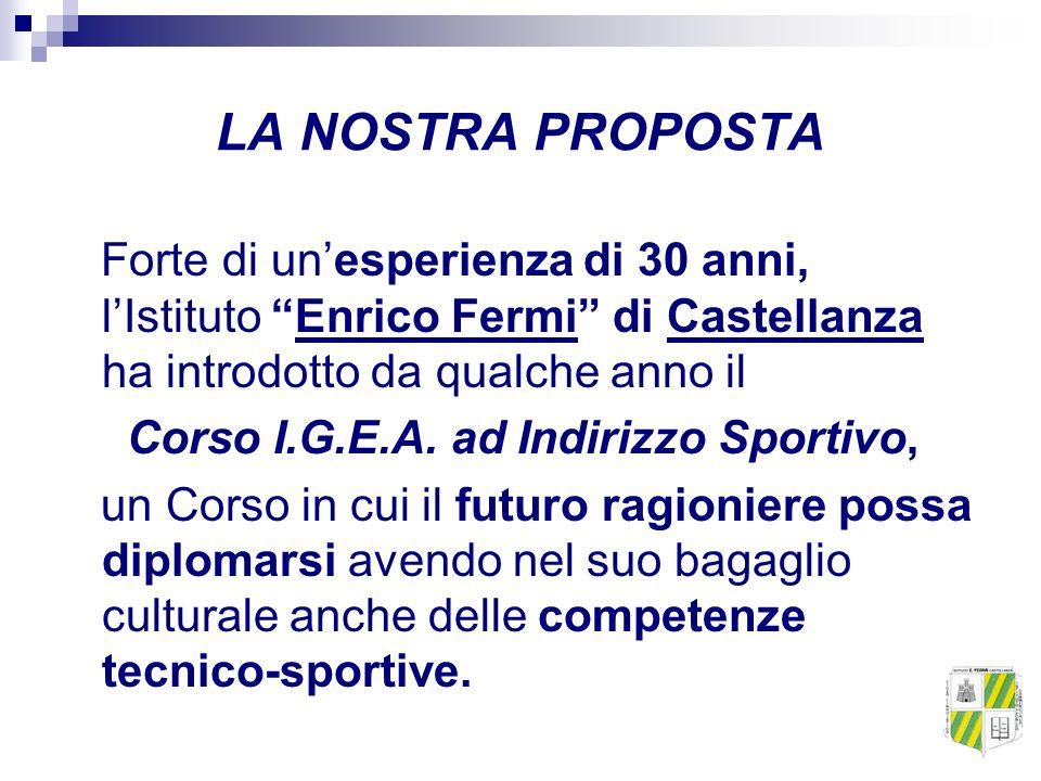 LA NOSTRA PROPOSTA Forte di un'esperienza di 30 anni, l'Istituto Enrico Fermi di Castellanza ha introdotto da qualche anno il.