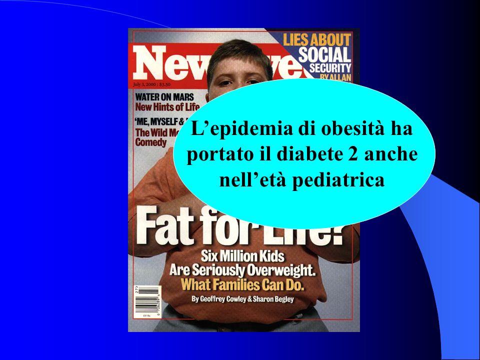 L'epidemia di obesità ha portato il diabete 2 anche nell'età pediatrica
