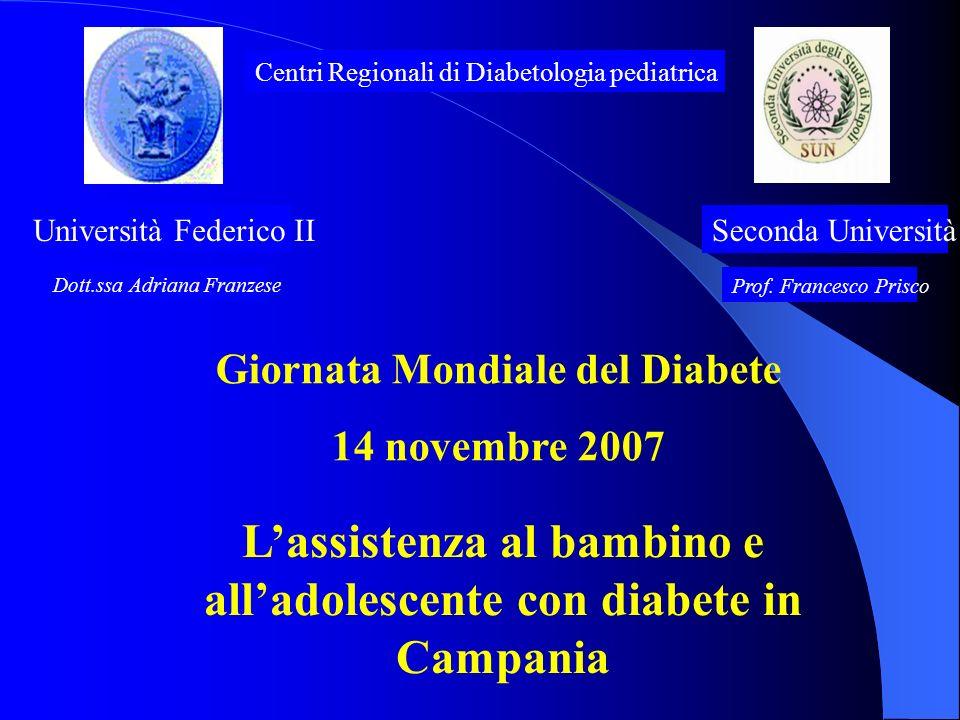 L'assistenza al bambino e all'adolescente con diabete in Campania