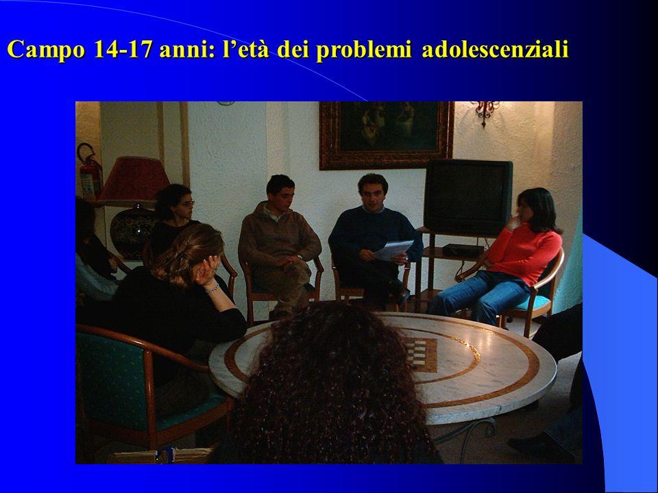 Campo 14-17 anni: l'età dei problemi adolescenziali