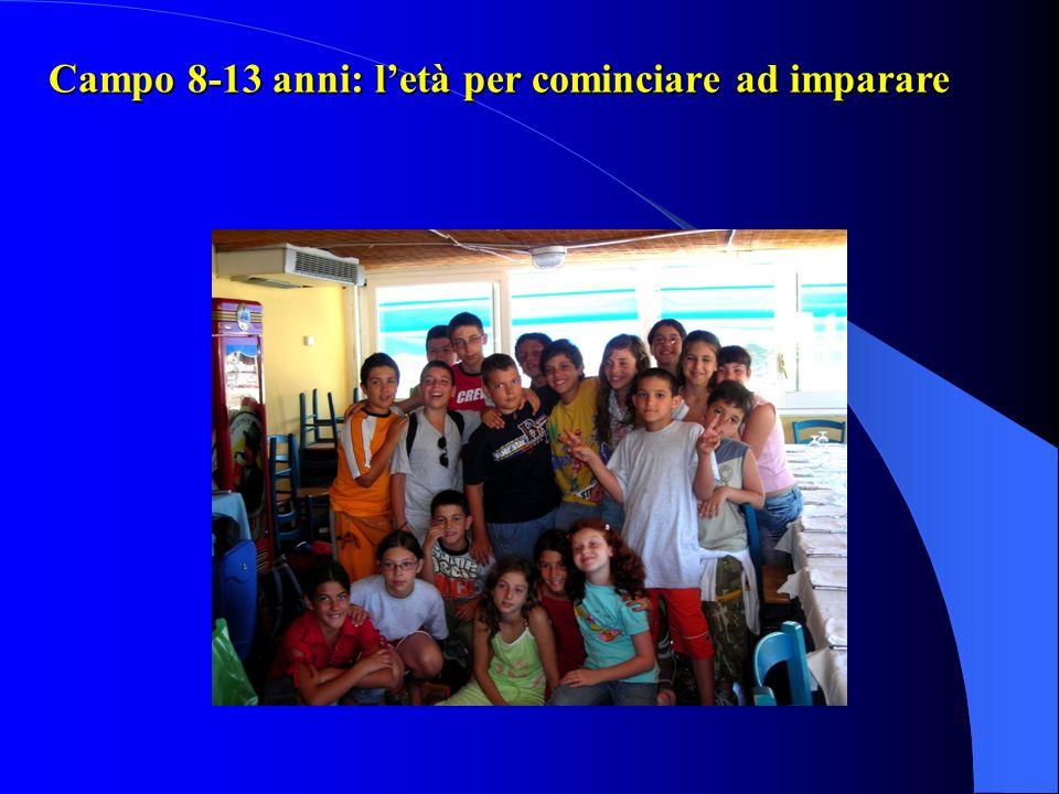 Campo 8-13 anni: l'età per cominciare ad imparare