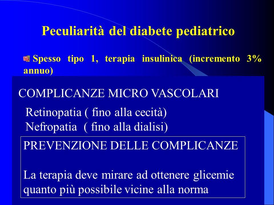 Peculiarità del diabete pediatrico