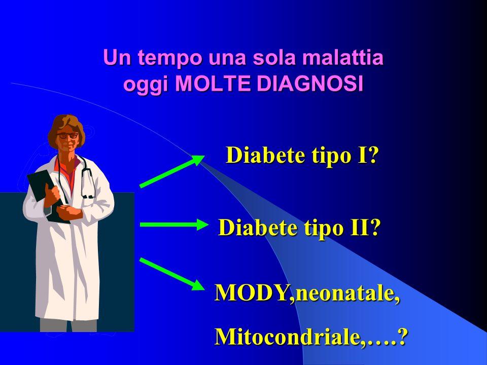 Un tempo una sola malattia oggi MOLTE DIAGNOSI