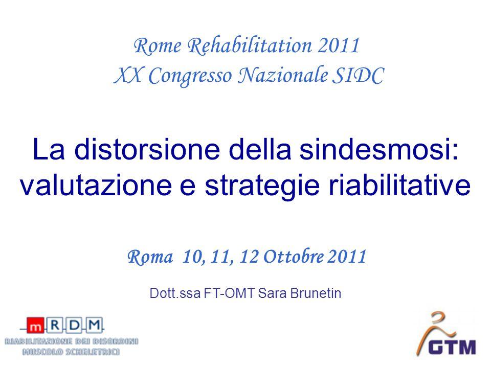 La distorsione della sindesmosi: valutazione e strategie riabilitative