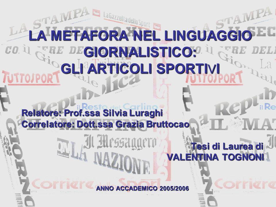 Relatore: Prof.ssa Silvia Luraghi