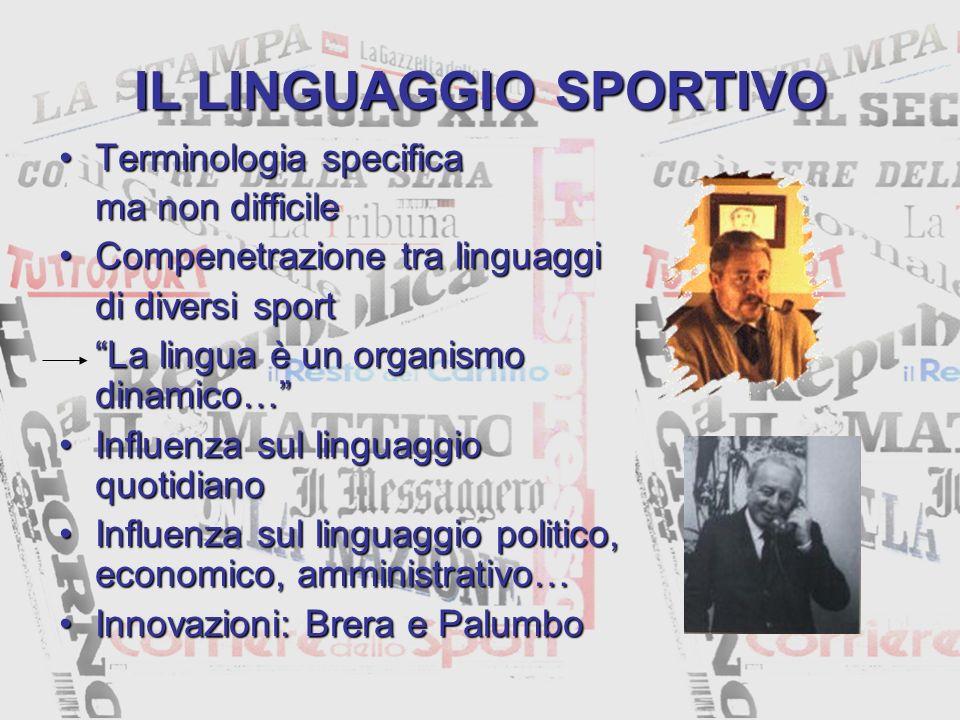 IL LINGUAGGIO SPORTIVO