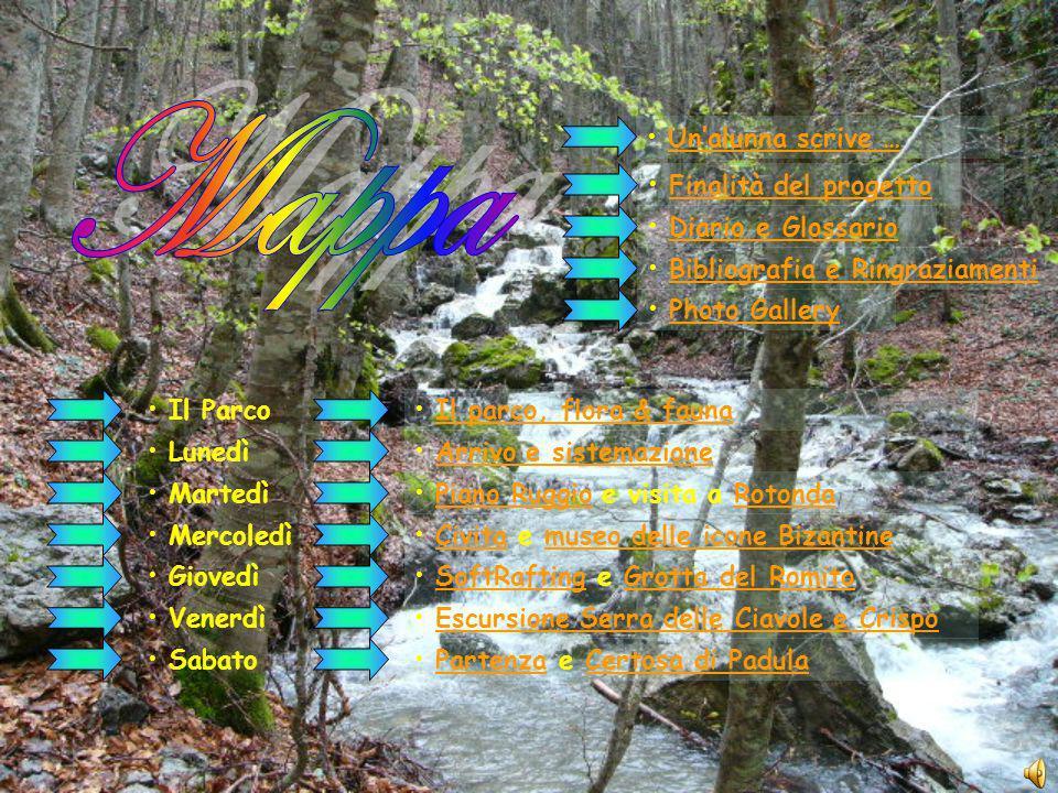 Mappa Un'alunna scrive … Finalità del progetto Diario e Glossario