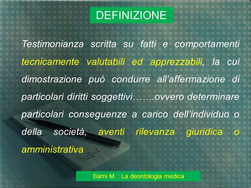 Barni M. : La deontologia medica