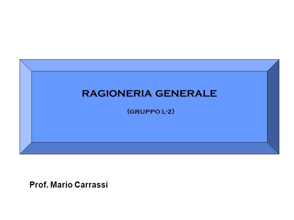 RAGIONERIA GENERALE (gruppo l-z)