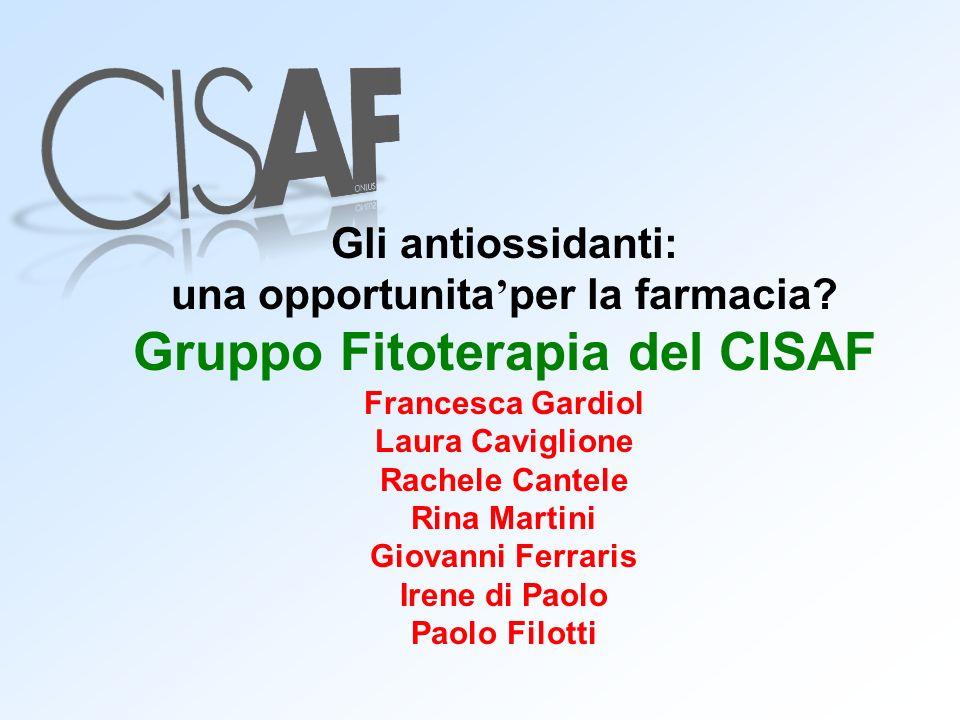 una opportunita'per la farmacia Gruppo Fitoterapia del CISAF