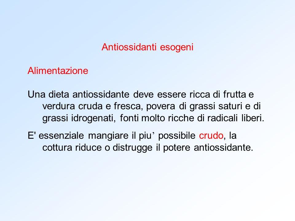 Antiossidanti esogeni