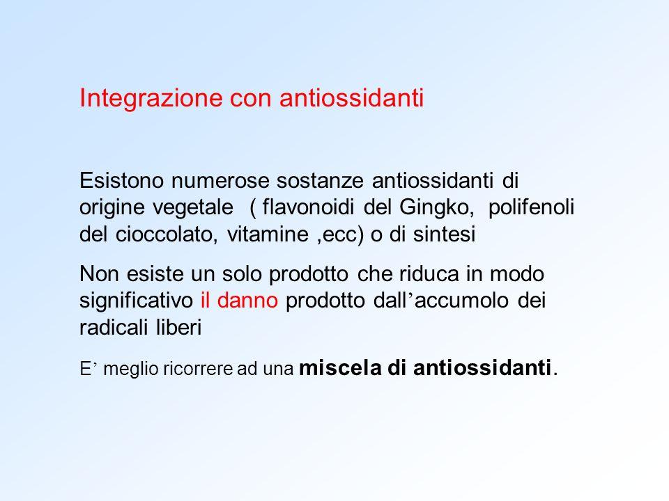 Integrazione con antiossidanti