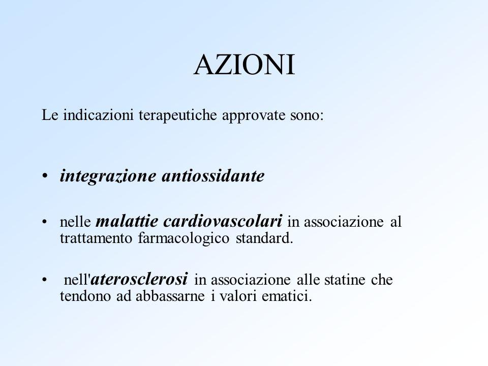 AZIONI integrazione antiossidante