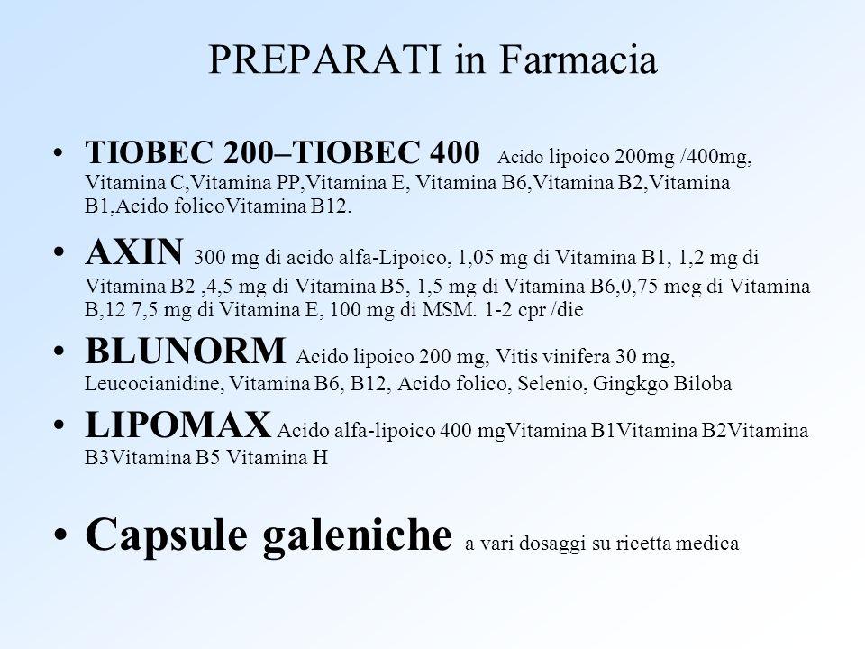 Capsule galeniche a vari dosaggi su ricetta medica