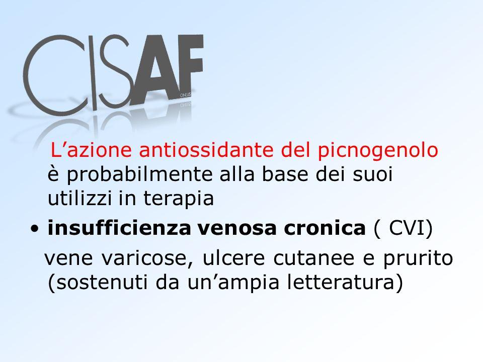L'azione antiossidante del picnogenolo è probabilmente alla base dei suoi utilizzi in terapia