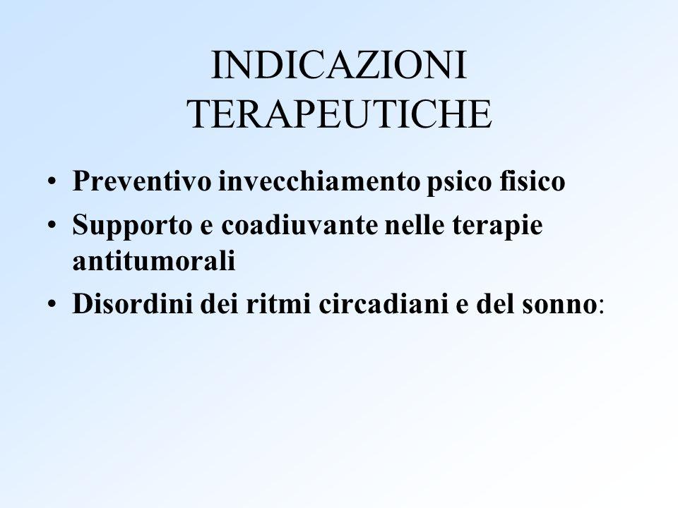 INDICAZIONI TERAPEUTICHE