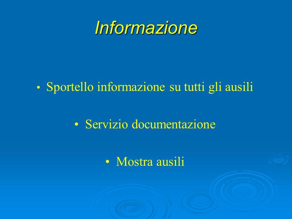 Informazione Servizio documentazione Mostra ausili