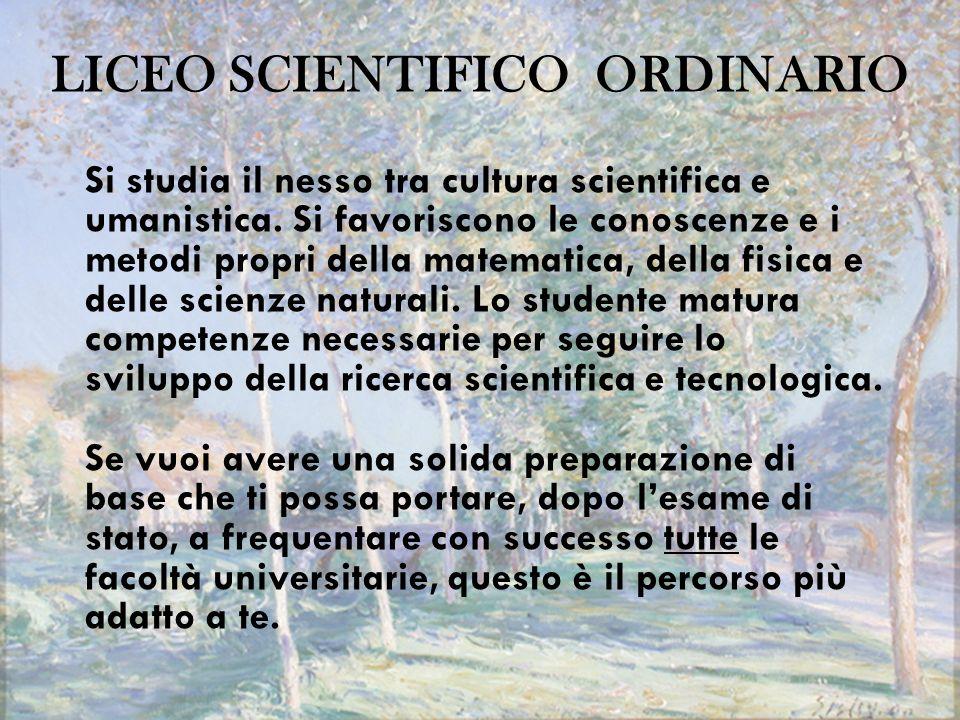 LICEO SCIENTIFICO ORDINARIO