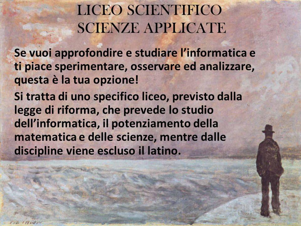 LICEO SCIENTIFICO SCIENZE APPLICATE
