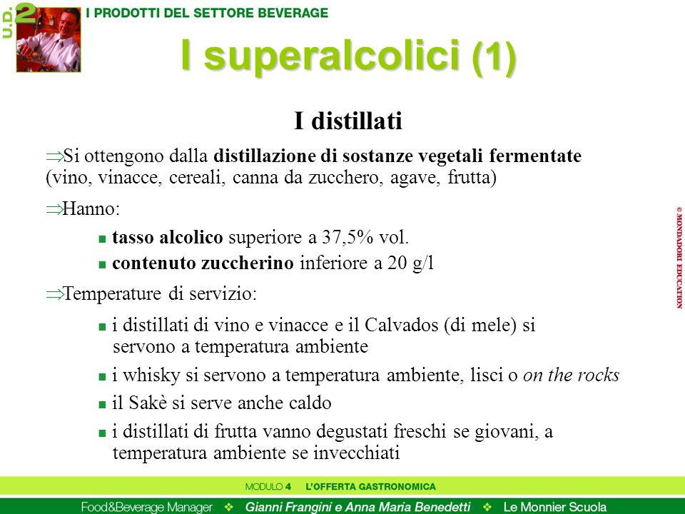 I superalcolici (1) I distillati