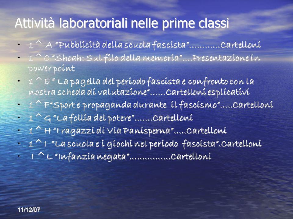 Attività laboratoriali nelle prime classi