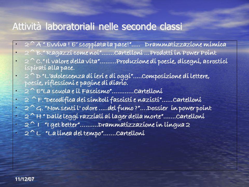 Attività laboratoriali nelle seconde classi