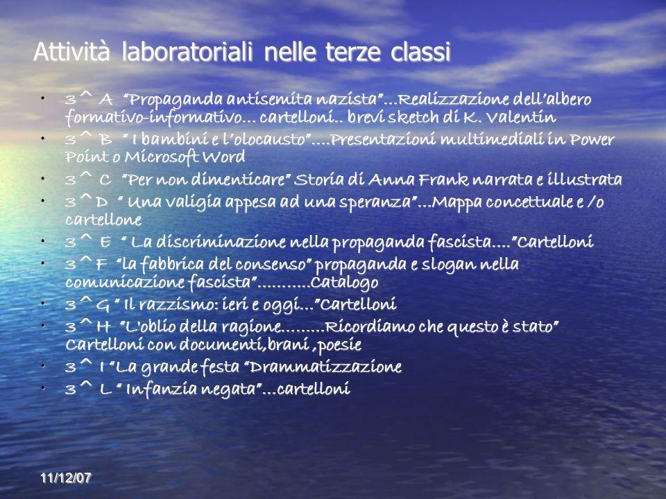 Attività laboratoriali nelle terze classi