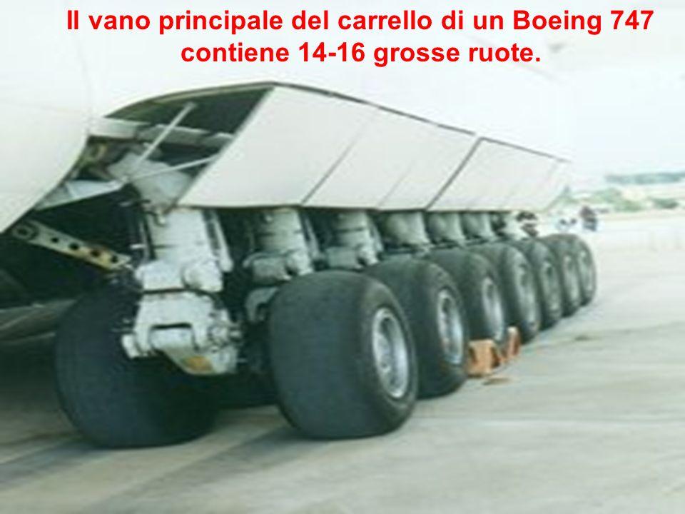 Il vano principale del carrello di un Boeing 747
