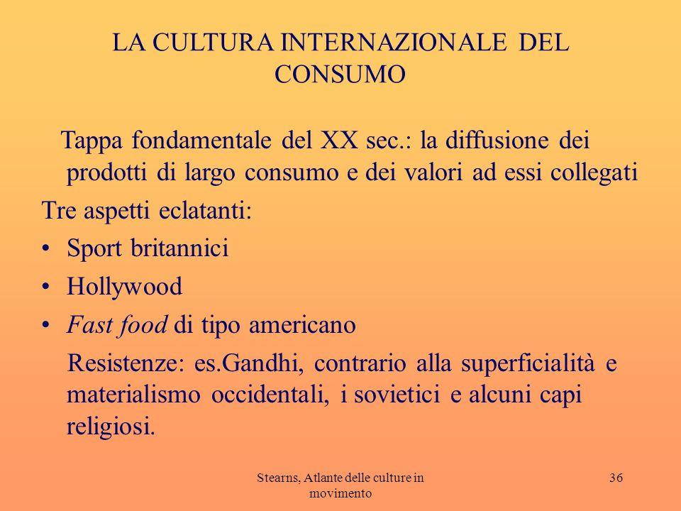 LA CULTURA INTERNAZIONALE DEL CONSUMO