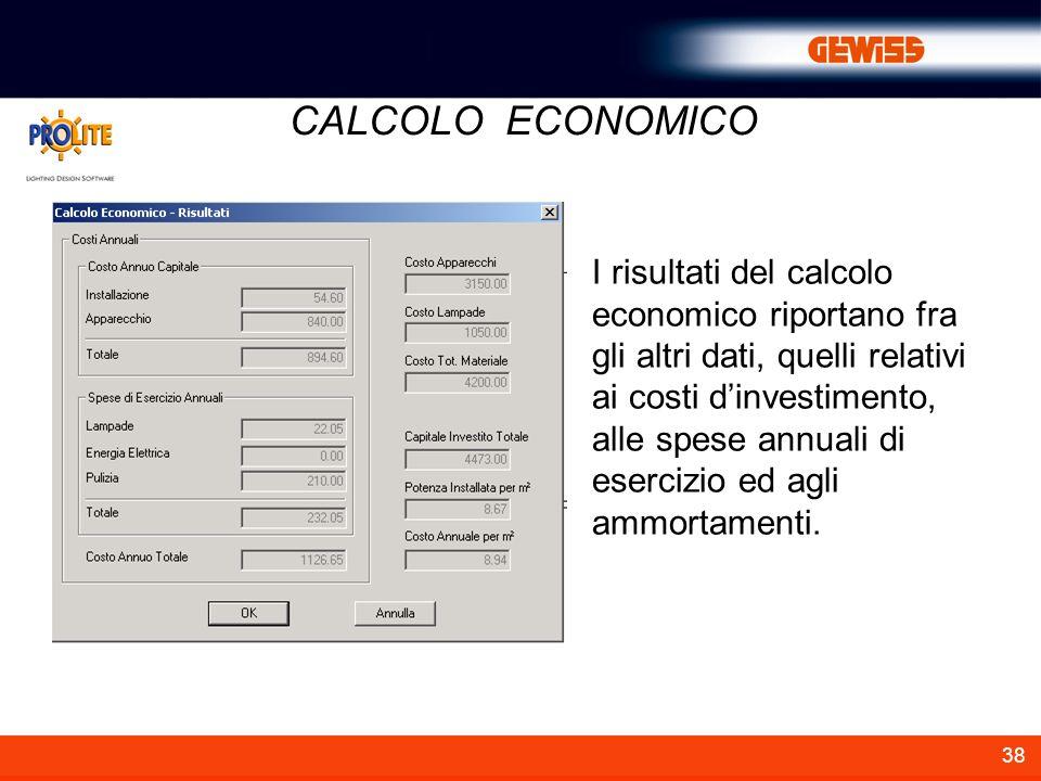 CALCOLO ECONOMICO