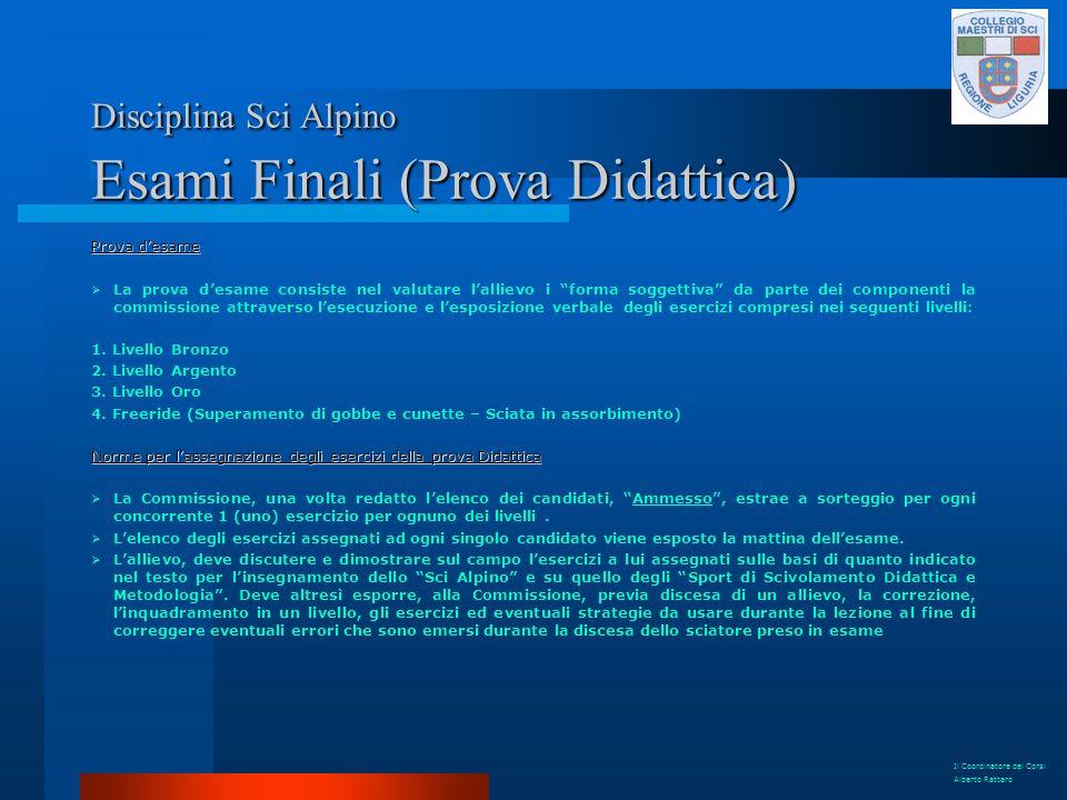 Disciplina Sci Alpino Esami Finali (Prova Didattica)