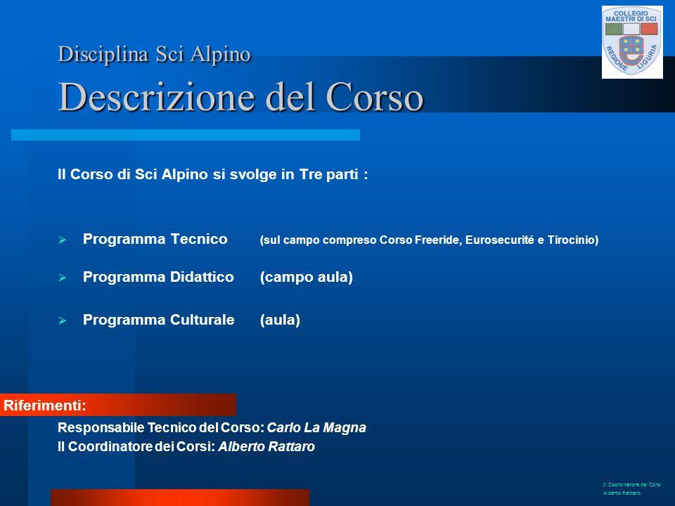 Disciplina Sci Alpino Descrizione del Corso