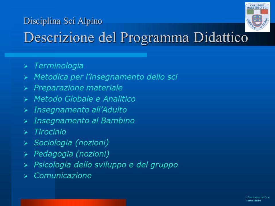 Disciplina Sci Alpino Descrizione del Programma Didattico
